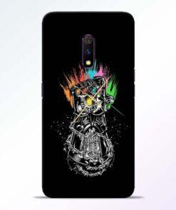Thanos Hand RealMe X Mobile Cover - CoversGap