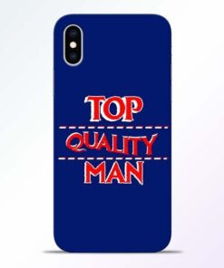 Top Quality Man iPhone XS Mobile Cover