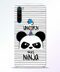 Unicorn Panda Redmi Note 8 Mobile Cover - CoversGap