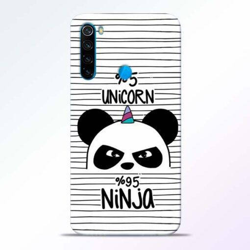 Unicorn Panda Redmi Note 8 Mobile Cover - CoversGap