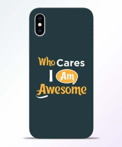 Who Cares iPhone XS Mobile Cover