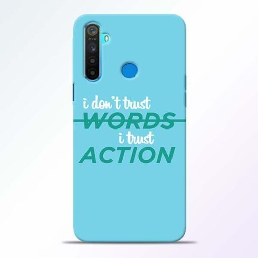 Words Action Realme 5 Mobile Cover
