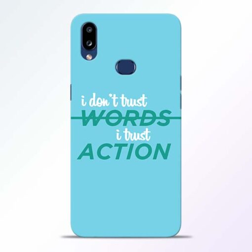 Words Action Samsung Galaxy A10s Mobile Cover