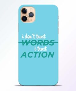 Words Action iPhone 11 Pro Mobile Cover
