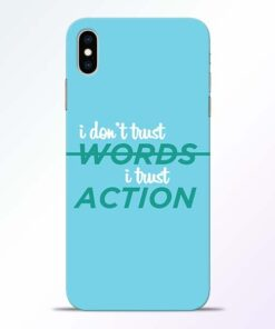 Words Action iPhone XS Max Mobile Cover