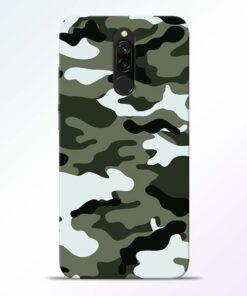 Army Camo Redmi 8 Mobile Cover