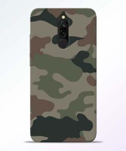 Army Camouflage Redmi 8 Mobile Cover