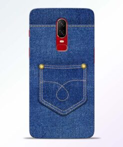 Blue Pocket Oneplus 6 Mobile Cover
