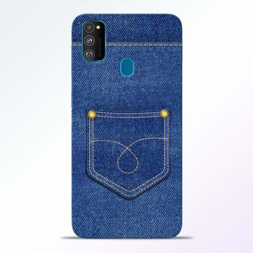 Blue Pocket Samsung Galaxy M30s Mobile Cover