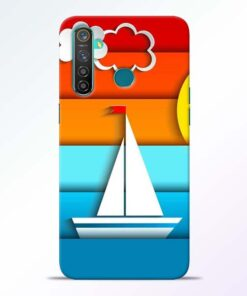 Boat Art Realme 5 Pro Mobile Cover