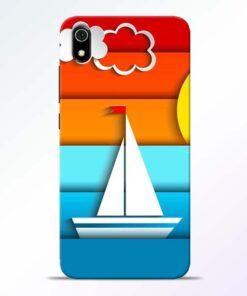 Boat Art Redmi 7A Mobile Cover - CoversGap