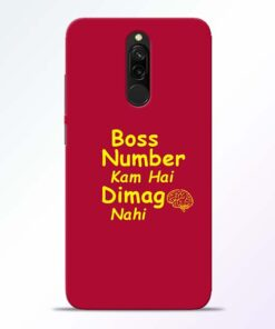 Boss Number Redmi 8 Mobile Cover