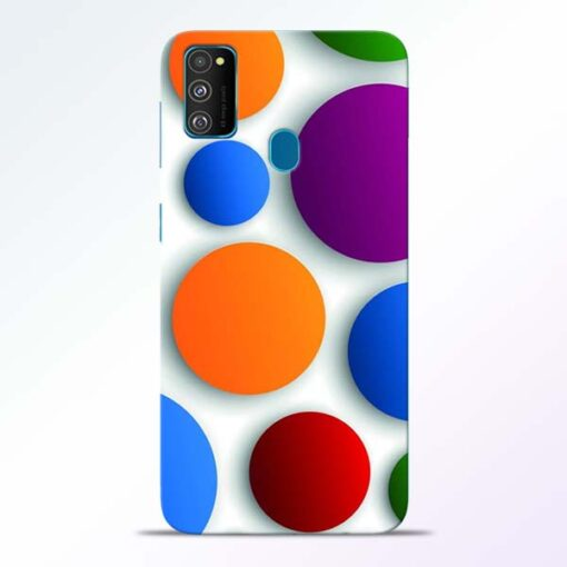 Bubble Pattern Samsung Galaxy M30s Mobile Cover