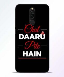 Chal Daru Pite H Redmi 8 Mobile Cover