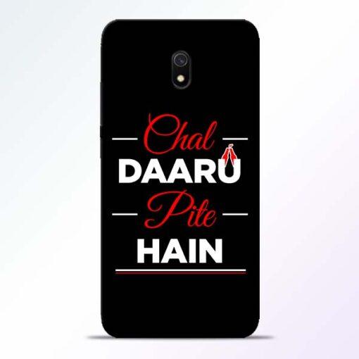 Chal Daru Pite H Redmi 8A Mobile Cover