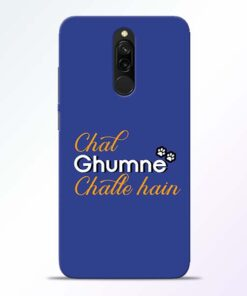 Chal Ghumne Redmi 8 Mobile Cover