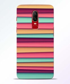 Color Stripes Oneplus 6 Mobile Cover