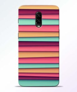 Color Stripes Oneplus 6T Mobile Cover