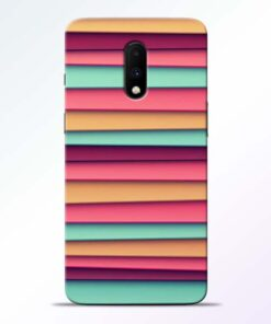 Color Stripes Oneplus 7 Mobile Cover