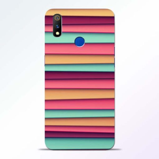 Color Stripes Realme 3 Pro Mobile Cover
