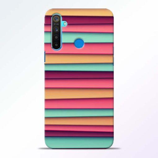 Color Stripes Realme 5 Mobile Cover