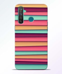 Color Stripes Realme 5 Pro Mobile Cover
