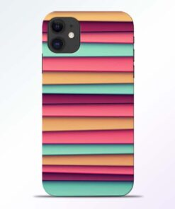 Color Stripes iPhone 11 Mobile Cover - CoversGap