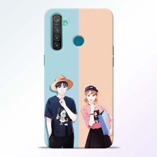 Cute Couple Realme 5 Pro Mobile Cover
