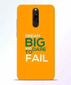 Dare to Fail Redmi 8 Mobile Cover
