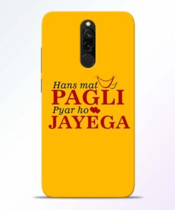 Hans Mat Pagli Redmi 8 Mobile Cover