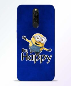 I am Happy Minion Redmi 8 Mobile Cover