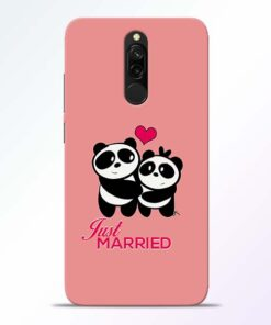 Just Married Redmi 8 Mobile Cover