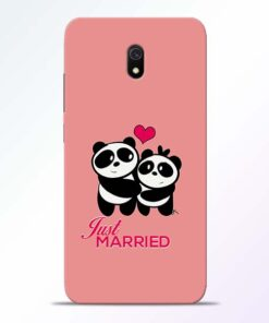 Just Married Redmi 8A Mobile Cover