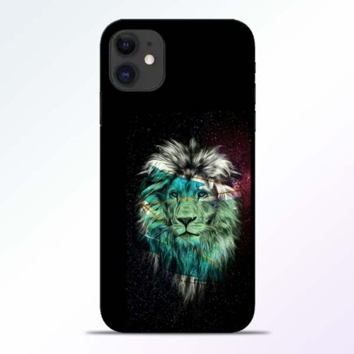 Lion Print iPhone 11 Mobile Cover - CoversGap