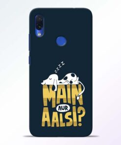 Main Aur Aalsi Redmi Note 7s Mobile Cover - CoversGap