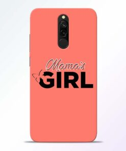 Mama Girl Redmi 8 Mobile Cover