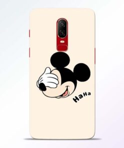 Mickey Face Oneplus 6 Mobile Cover