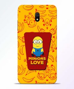 Minions Love Redmi 8A Mobile Cover