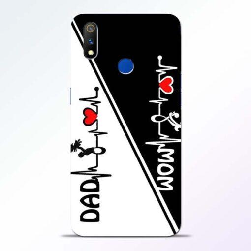 Mom Dad Realme 3 Pro Mobile Cover