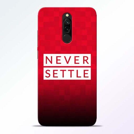 Never Settle Redmi 8 Mobile Cover