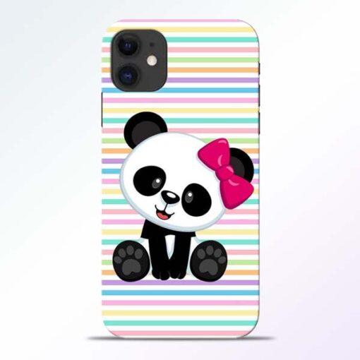Panda Girl iPhone 11 Mobile Cover - CoversGap