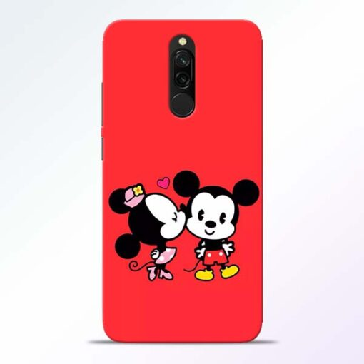 Red Cute Mouse Redmi 8 Mobile Cover