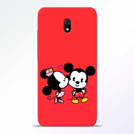 Red Cute Mouse Redmi 8A Mobile Cover