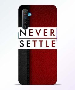 Red Never Settle RealMe XT Mobile Cover