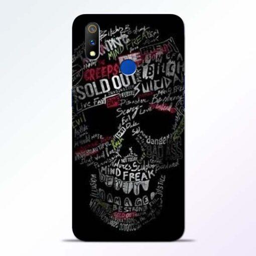 Skull Face Realme 3 Pro Mobile Cover
