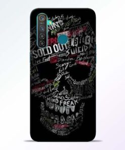 Skull Face Realme 5 Pro Mobile Cover