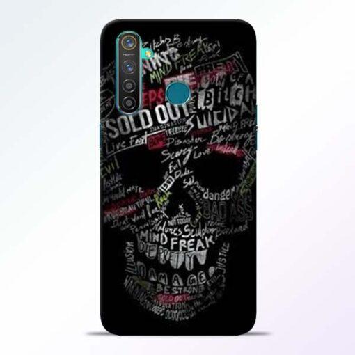 Skull Face Realme 5 Pro Mobile Cover