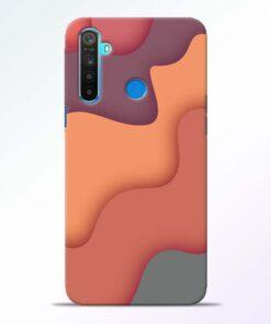 Spill Color Art Realme 5 Mobile Cover
