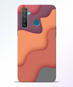 Spill Color Art Realme 5 Pro Mobile Cover
