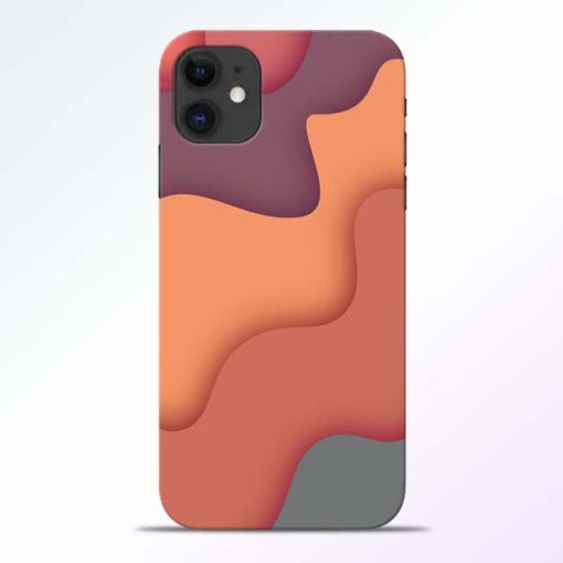 Spill Color Art iPhone 11 Mobile Cover - CoversGap